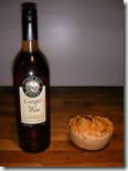 Ginger wine and a pot pie
